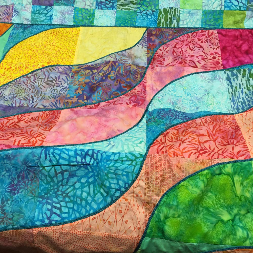 Batik Waves Quilting