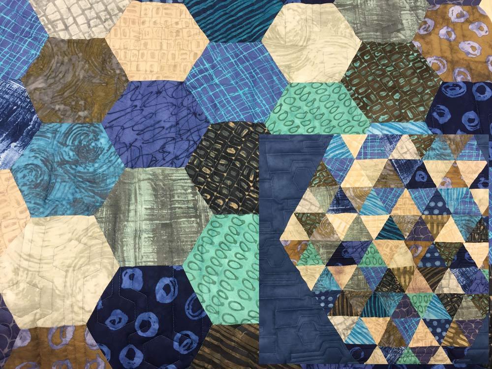 Modern Hexagon Blau