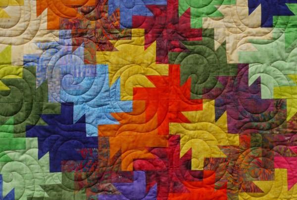 Batik Popp Allium Muster