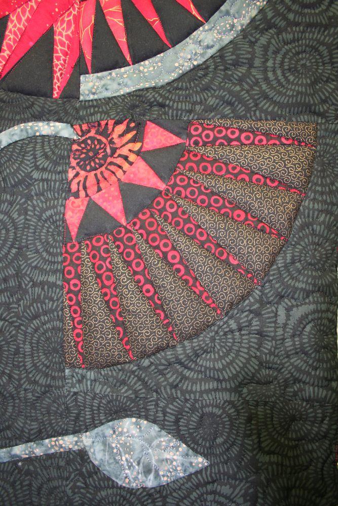 Detail NYB Quilt Flower Garden