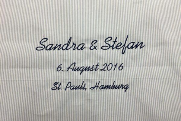 Hochzeitsgeschenk Kissenplatte