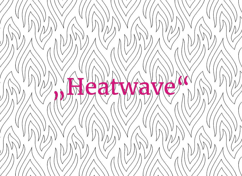 Digital Quilting Pattern Heatwave