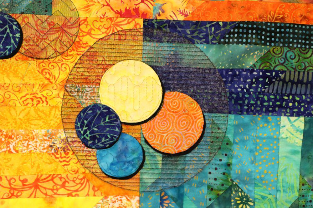 Bubblicious überlagerte Kreise mit unterschiedlichen Mústern