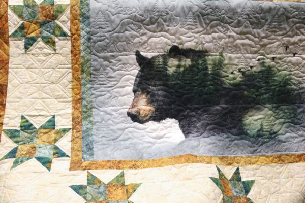 Moose bear quilting Call of the Wild digital Print