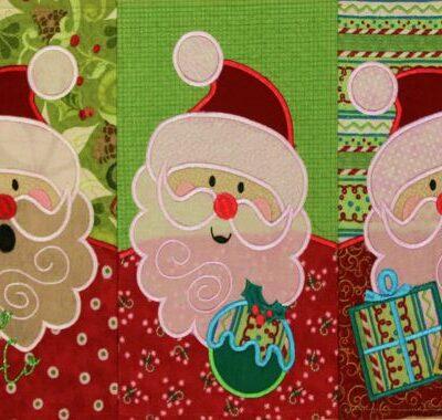 Alle Fünf Santas in Reihe
