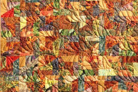 Herbstlaub mit Blätter Quiltmuster