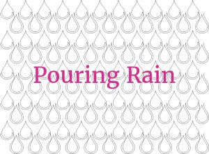 Allover Quilting Pattern Pouring Rain