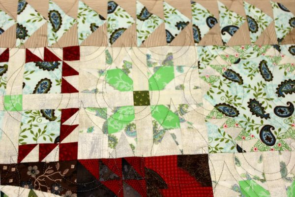 Derail 1 Aves Pouring Rain Quilting BKF